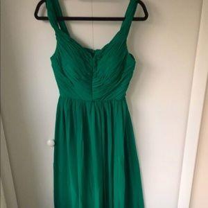 Emerald green floor length gown